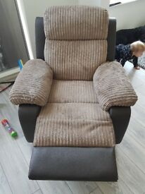 Corner sofabed with armchair