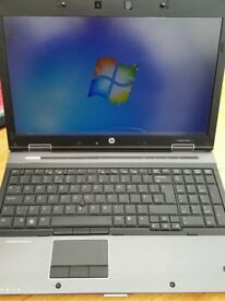 "HP i5 EliteBook 8540w PC Notebook 15.6"" 4gb Ram, 250gb Hd Drv. NVIDIA"