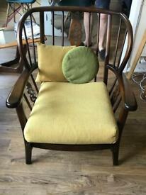 Beautiful mid-century, vintage wooden armchairs (Ercol similar)