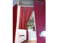 2 pairs of curtains, 'raspberry'