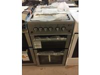 BRAND NEW FLAVEL 50CM SILVER GAS COOKER WITH OVEN & GRILL