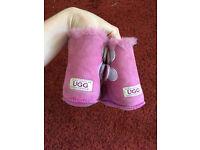 Baby girl infant ugg boots / pram shoes /prewalkers - 6-12 months - size L