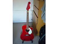 Fender Sonoran SCE Acoustic Guitar + gig bag + Quik Lok stand