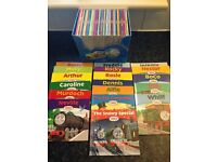 Thomas the Tank Engine 55 book library set plus snowy special