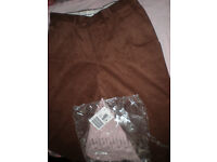 Mens Cord Trousers in Brown, Black and Navy