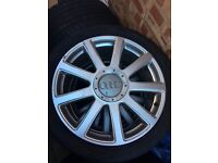 Audi 21 inch alloys with tyres
