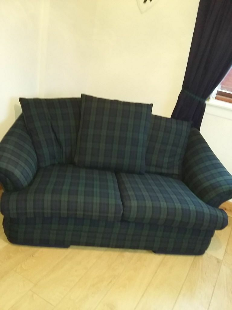 2 Seater Black Watch Tartan Sofa Great Condition
