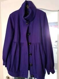 Womens wool coat size 16