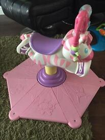 All 3 for £46.Fisher Price zebra bounce and spin, Bumbo seat and inflatable baby chair