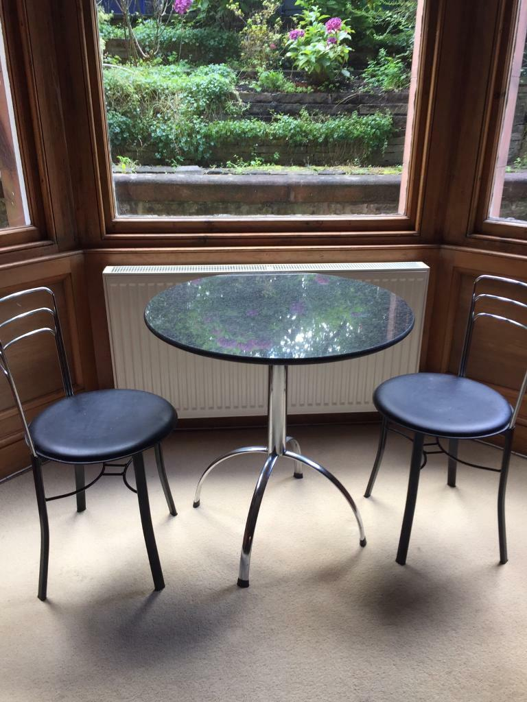 beautiful granite kitchen table and two chairs  in grange
