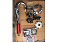 Vespa spare. Vespatronic electronic ignition. PM atuning exhaust