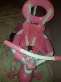 fisher price bunny trike . pink fab condition