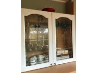 Kitchen glass wall cabinet