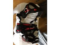 Brand new.Safety harness g force p71 with lanyards and work positioning device. Never been worn.