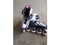 ROLLER BLADES as new used only once, adjustable size 3 to 6