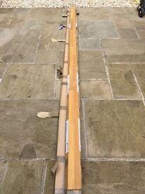 Solid Oak Worktop Upstanding 3m Lengths
