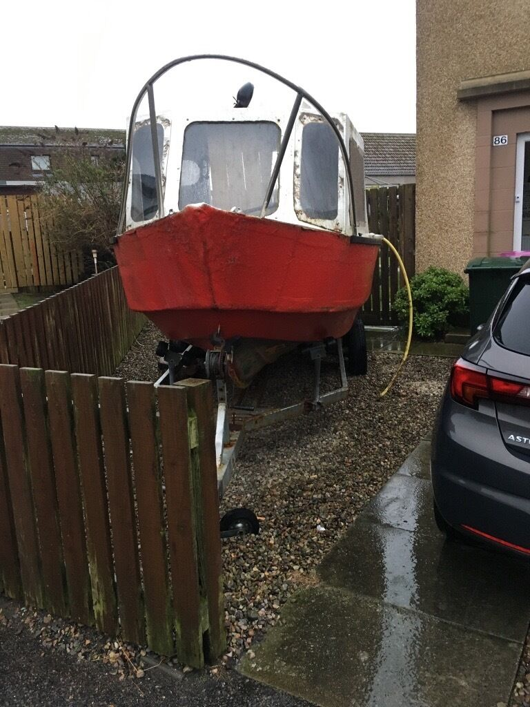 Project boatin Elgin, MorayGumtree - Project boat for sale with 2 axle trailer.both need some tlc.boat needs some glassing done to the hull.no time and need the space