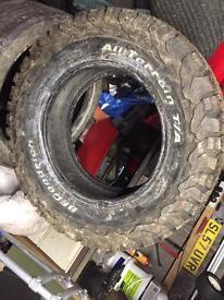 New BF Goodrich all terrain tyre LT265/65/17