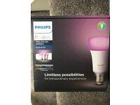 Philips Hue White and Colour wireless lighting E27 starter kit brand new & Sealed