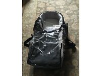Mountain buggy urban black baby carrycot for pushchair / pram with rain cover handles and clips
