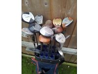 WOODEN GOLF CLUB SET WITH ALL