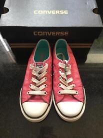 Girls pink converse pumps - size 13
