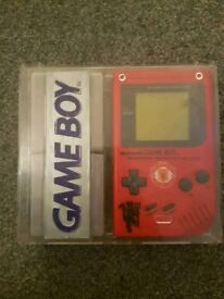 Manchester United rare gameboy and special edition box and games