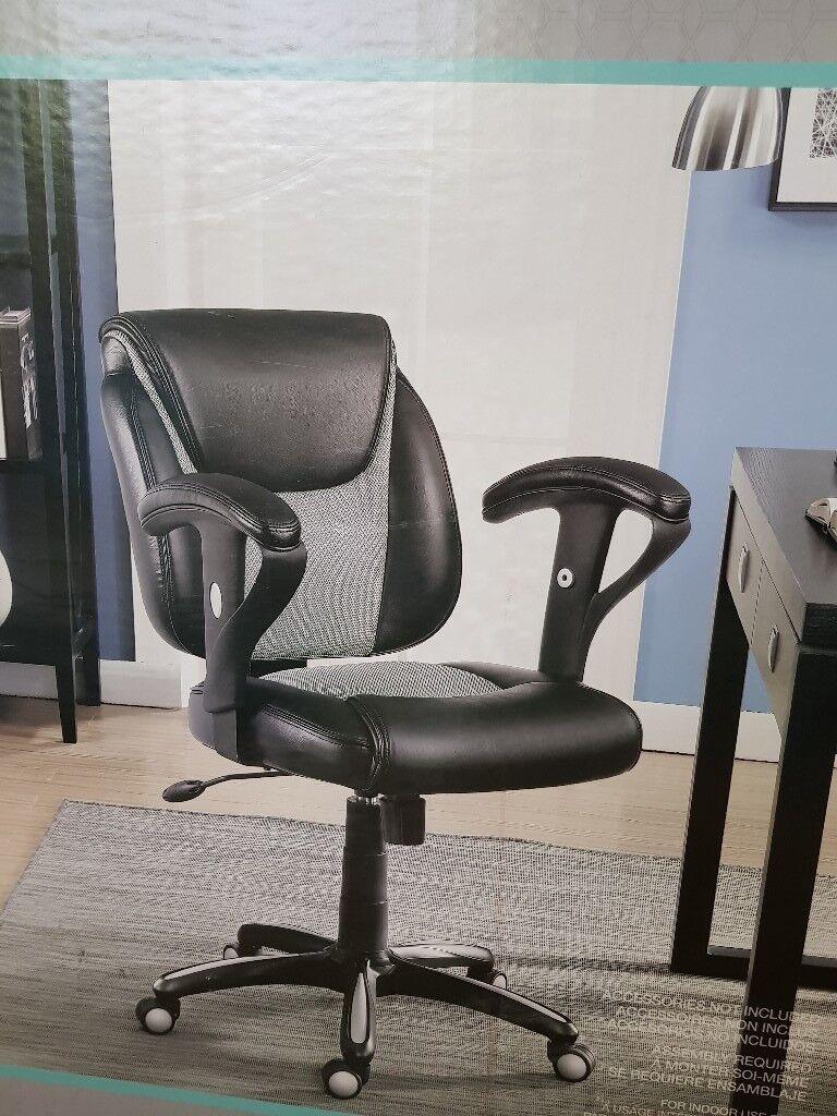 Groovy New True Innovations Black Bonded Leather Task Chair Home Office Furniture Rrp99 99 In Milton Keynes Buckinghamshire Gumtree Machost Co Dining Chair Design Ideas Machostcouk