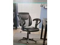 NEW True Innovations Black Bonded Leather Task Chair Home Office Furniture RRP£99.99