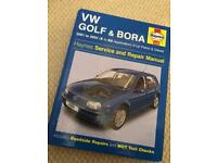 VW Golf and Bora 2001 to 2003 (X to 53) Haynes Manual