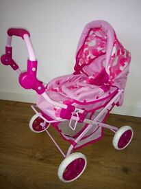 Toy pram and carry case - Excellent condition! SOLD