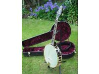 Gold Tone Cello Banjo CE-4 Marcy Marxer Signature Model with fitted pickup & hard case, as new
