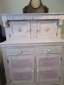 Shabby Chic Cabinet Sideboard Cupboard Wall Unit Dresser