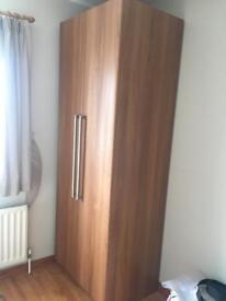 Walnut brown starplan tall free standing wardrobe