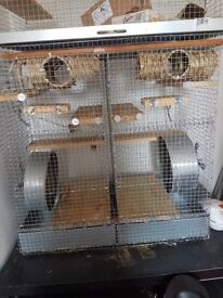 John Hopewell Degu Cage with features for introducing degus.