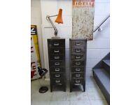 1950s industrial design filing cabinet - Olive green