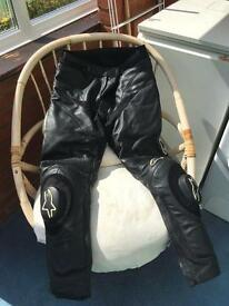 motorcycle leather trousers