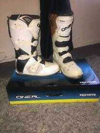 Oneal mx boots size ten