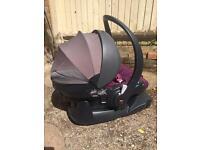 Stokke BeSafe Izi Go Baby Car Seat Purple + ISOFix Base.