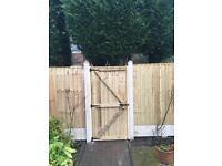 Fence panels feather edge