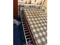 Single silver metal bed