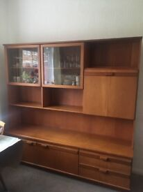 Large wooden wall unit