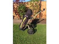 GOLF Clubs and trolley £50