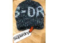 cacbcea9168 Superdry Sparkle Twist Beanie  S-DRY  Logo 100% Brand New With Tags