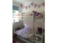 White shorty bunk beds