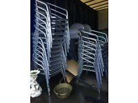 20 Aluminium chairs for sale