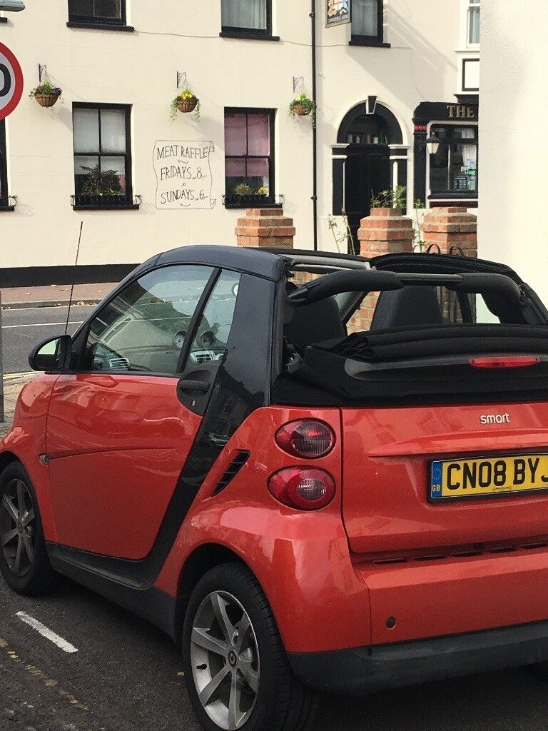 Smart car for two convertible 2008 1.0ltr semi auto