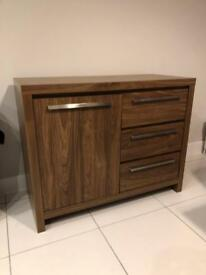Next mode walnut storage sideboard