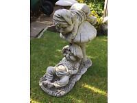 Large stone garden 2 pixie statue, fantastic detail. New