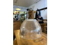 Industrial 'glass' Warehouse lamp shade light fittings (three available)